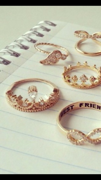 jewels ring gold jewelry gold ring infinity best friends infinity ring bff