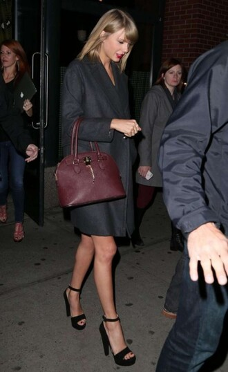 sandals black taylor swift bag coat shoes