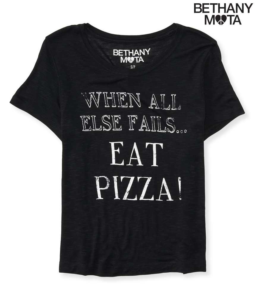 aeropostale womens eat pizza crop graphic t shirt