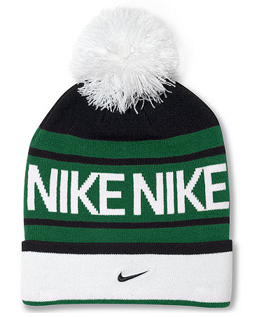 Nike Hat, Pom Pom Beanie - Hats, Gloves & Scarves - Men - Macy's