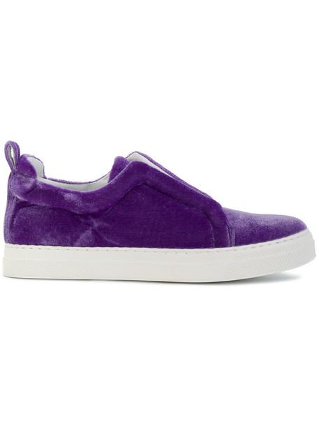 Pierre Hardy women sneakers leather velvet purple pink shoes