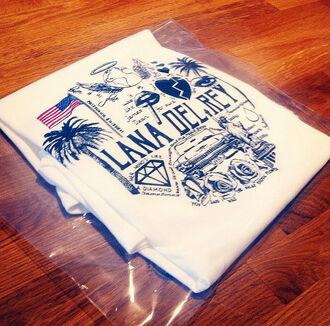 t-shirt singer la america american lana del rey t shirt. lana del rey los angeles american flag