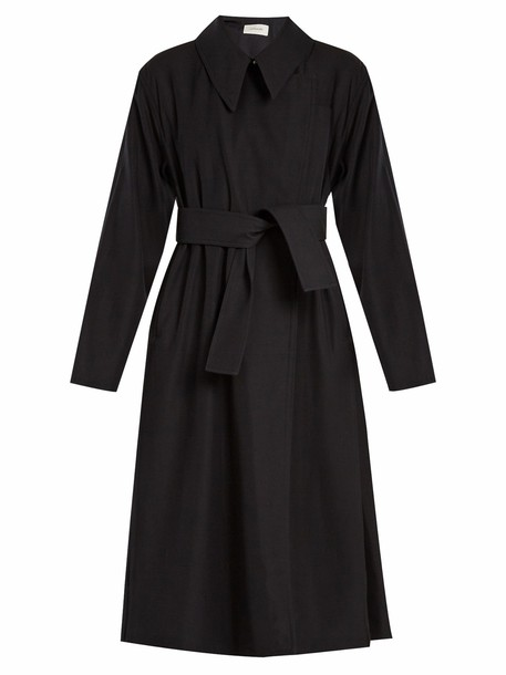 Lemaire coat trench coat wool navy