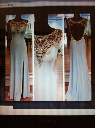 dress prom dress backless dress long prom dress cut-out dress blue dress blue prom dresses light blue beautiful ball gowns glitter dress beautiful pretty blouse jeans