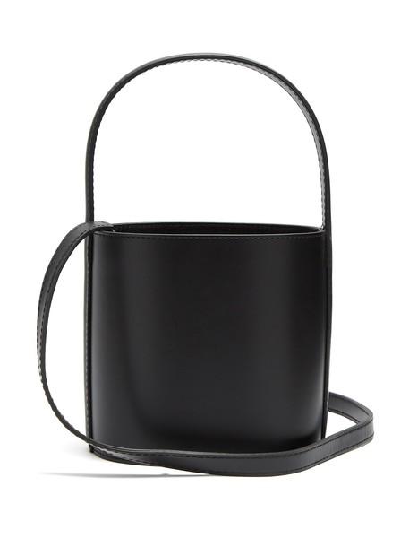 Staud bag bucket bag leather black