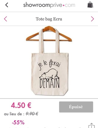 bag shaman casual tote bag bear je le ferai demain
