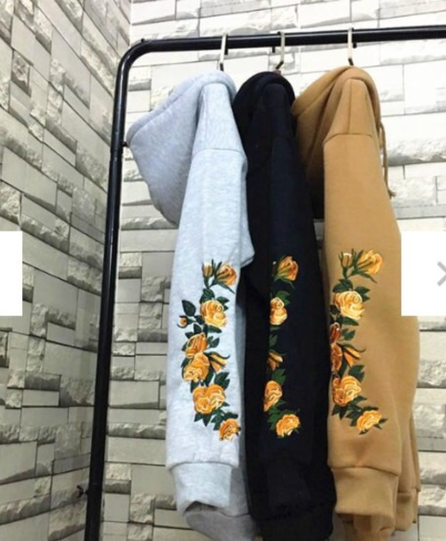 jacket embroidered hoodie oversized sweater oversized sweater floral