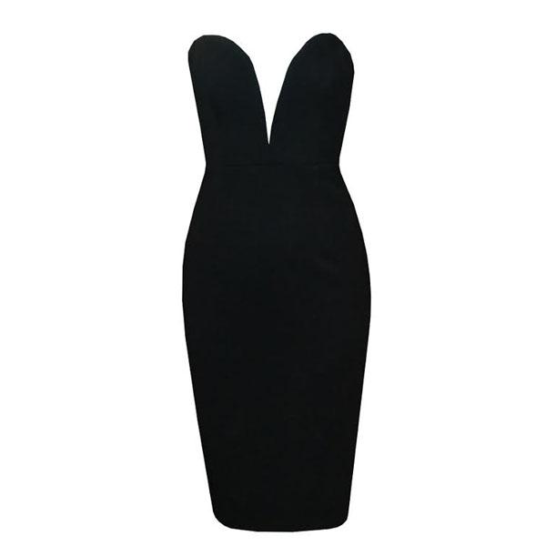 Plunge deep v pencil dress · summah breeeze · online store powered by storenvy