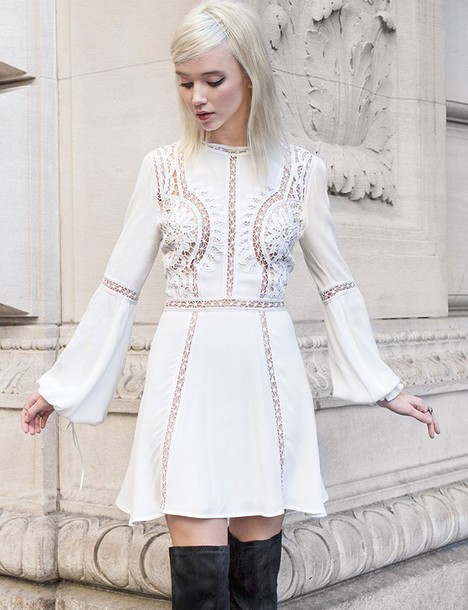 Dress: love and lemons pixiemarket boho romantic white dress ...