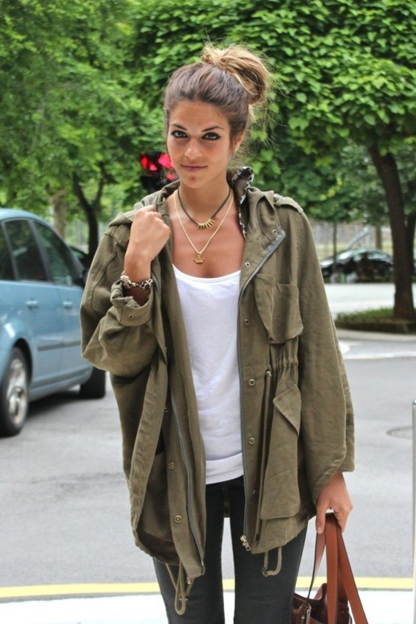 Military Style Green Jacket - Shop for Military Style Green Jacket