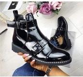 shoes,black,metal,leather