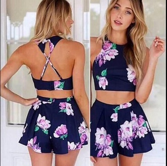 top outfit crop crop tops shorts style summer top summer shorts matching shorts and top dress jumpsuit romper skirt