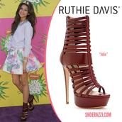 shoes,shoerazzi,platform sandal boots,red,cute,burgundy,zendaya,sweater,dress