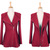 Wholesale Asymmetric Zipper High Waistline Ruffles Worsted Solid Color Coat For Women (WINE RED,M), Jackets & Coats - Rosewholesale.com