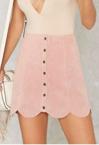 Pink Suede Skirt - Shop for Pink Suede Skirt on Wheretoget