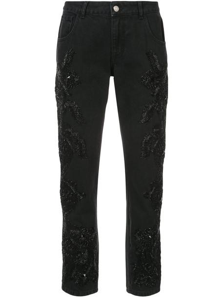 Amen jeans boyfriend jeans women boyfriend embellished cotton black