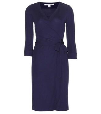 dress wrap dress new blue