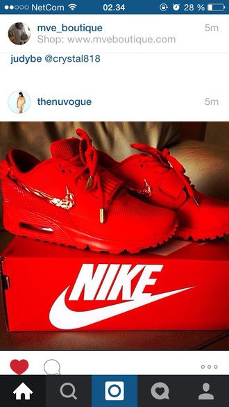 shoes red nike air max kicks sneakers fashion dope celebrities style clothes pattern trendy