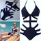 Sexy strappy one piece swimsuit swimwear bathing monokini push up padded bikini | ebay