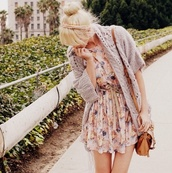 dress,summer,summer dress,cute dress,beige dress,beige,pink,pink dress,old pink,pastel pink,coat,brown leather bag,leather,bag,leather bag,headband,hair accessory,accessories,womens accessories,Accessory,clothes,sweater