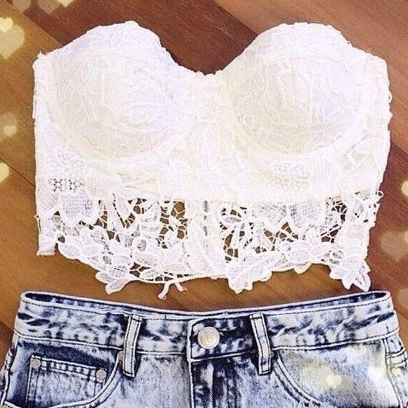 t-shirt corset white crop top top cute summer crop tops bra bralet top corset bra bralet tshirt tshirts white bralette sun shorts shirt