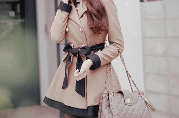 coat black bow