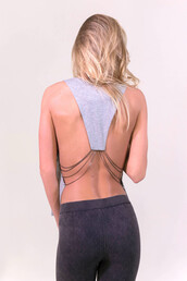 top,grey,chain,sexy,summer,fashion,style,party,open back,freevibrationz