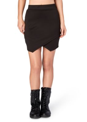 Scuba Envelope Hem Mini Skirt