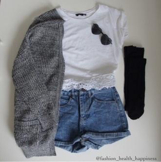 cardigan grey cardigan grey pretty crdigan shirt shorts t-shirt