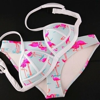 swimwear flamingo bikini top