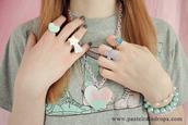 ring,cross,pastel raindrops,purple jewels,jewels