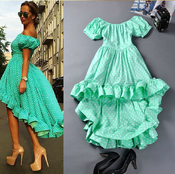 2014 runway dress women's High quality dresses brand dresses-in Dresses from Apparel & Accessories on Aliexpress.com