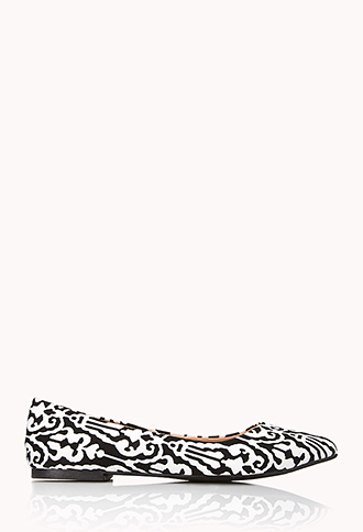Pointed Damask Flats | FOREVER21 - 2040495690
