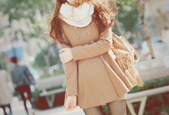 bag beige cream coat cute coat, beige, cream, town winter coat