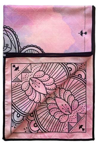 home accessory black pink towel print purple vagabond goods bikiniluxe