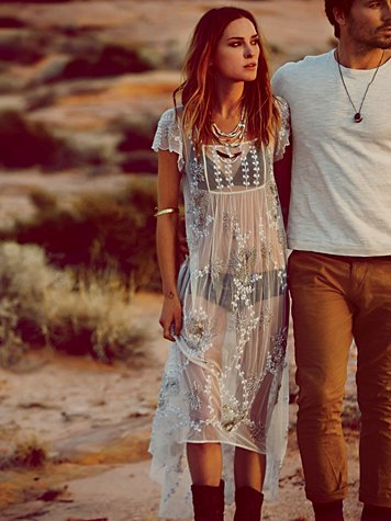 Free people  journey embellished slip at free people clothing boutique