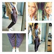 pants,harem,chino,pattern,girl,class,swag,cute,tumblr,beautiful,coat