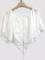 White open shoulder tie front lace spliced crop tops