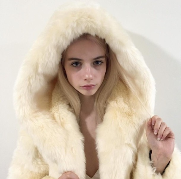 coat joanna kuchta cute sweet kawaii faux fur faux fur coat instagram tumblr charlie barker elizabeth bishop blogger grunge goth jfashion kfashion kpop jpop harajuku fur sweater white fluffy soft fur jacket joannakutcha faux fur coat