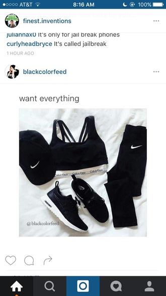 pants black nike