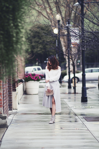 clothes to midnight blogger sweater skirt shoes bag