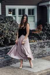 live more beautifully,blogger,tank top,skirt,shoes,jewels,bag,make-up,spring outfits,pleated skirt