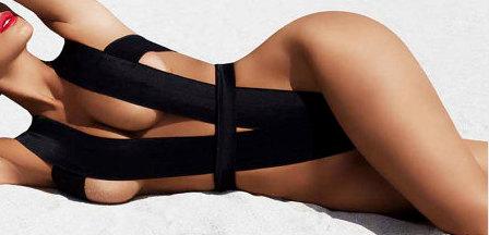 Bandage swimsuit / bathing suit. Custom swimwear  as door liliash
