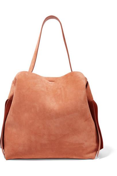 Acne Studios - Musubi Maxi Knotted Suede Shoulder Bag - Brown