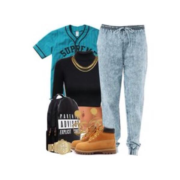 jeans coat bag jewels shirt