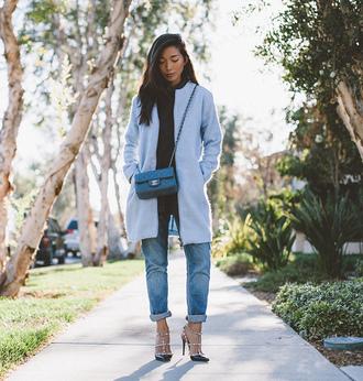jeans coat blogger bag honey n silk light blue