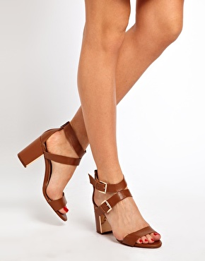 Aldo kalika double strap heeled sandals at asos