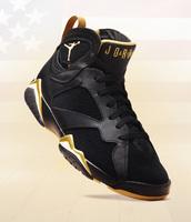 shoes,airjordan,jordan,7s,gold and white,sneakers,air jordan's,retro 7,black and gold