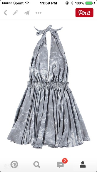 dress grey dress grey and white halter dress halter neck halter top