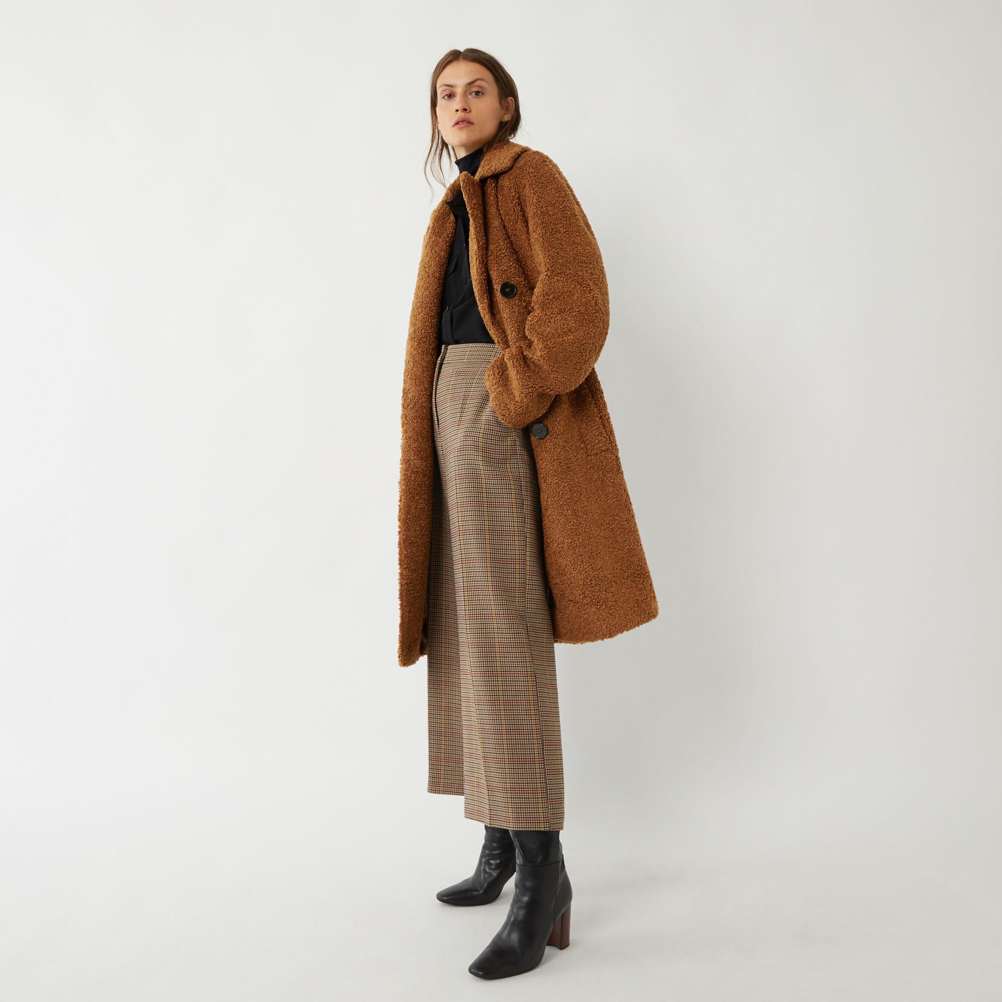 FAUX FUR DOUBLE TEDDY COAT | Warehouse